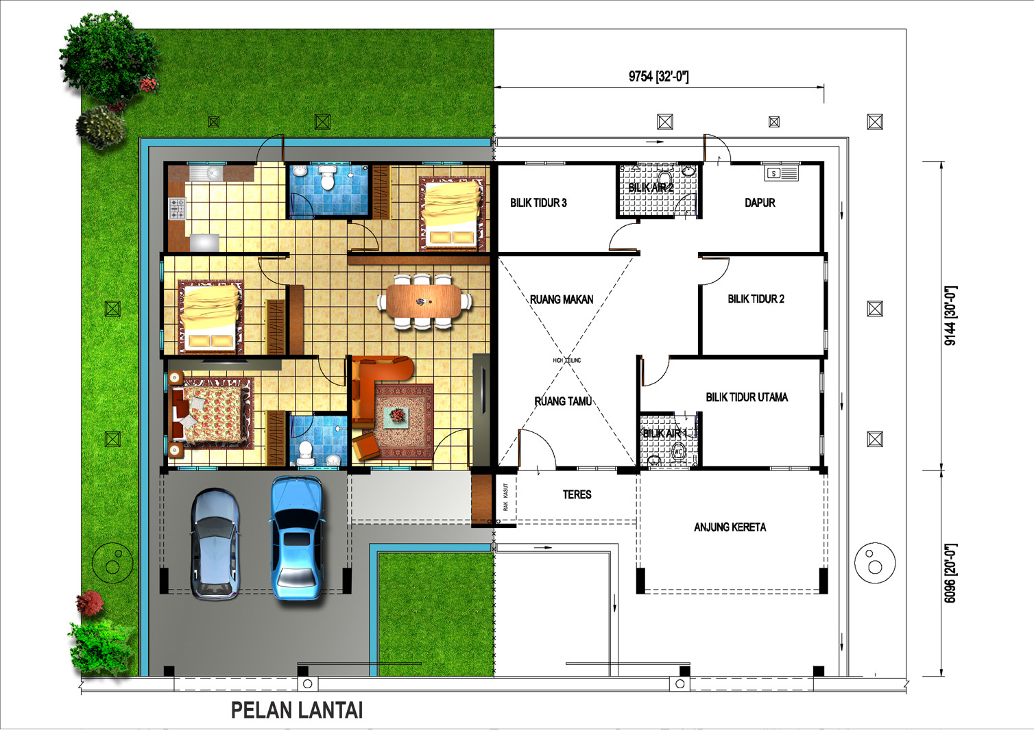 28+ [ single storey semi detached house floor plan ] | lakeshore